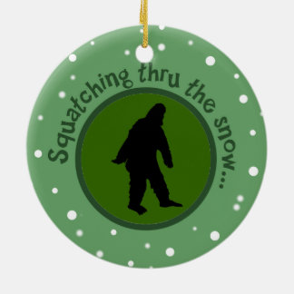 Squatching Thru the Snow Sasquatch Tree Ornament
