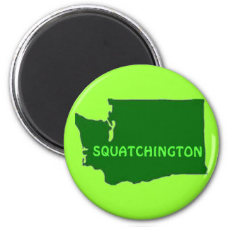 Squatchington Washington Silhouette Magnet