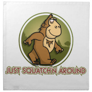 SQUATCHN AROUND NAPKIN