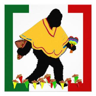Squatcho De Mayo Fiesta Custom Announcements