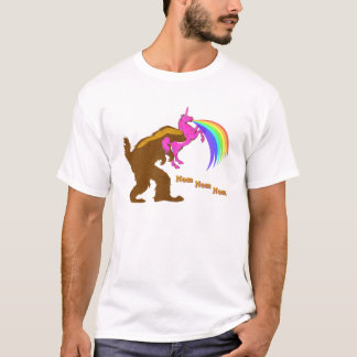 Squatchy Badger Eating Unicorn T-Shirt
