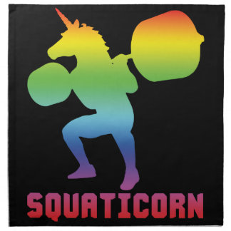 Squaticorn - Leg Day - Squat Unicorn - Workout Napkin