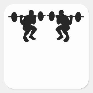 Squats Mirror Image Sticker