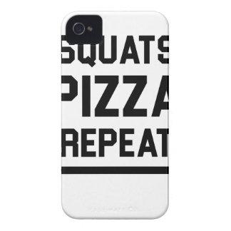 Squats Pizza Repeat iPhone 4 Case