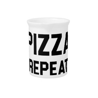 Squats Pizza Repeat Pitcher