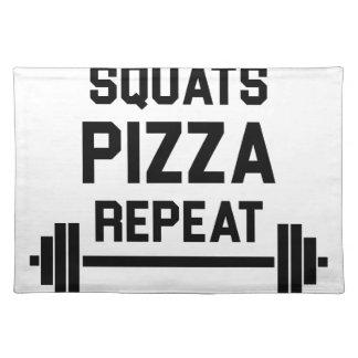 Squats Pizza Repeat Placemat