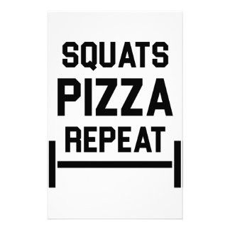 Squats Pizza Repeat Stationery