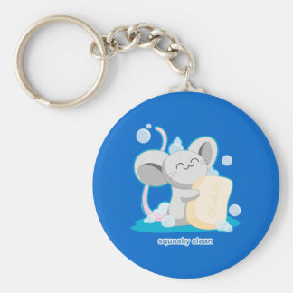 Squeaky Clean Basic Round Button Key Ring