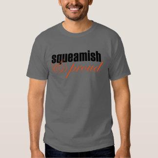 Squeamish & Proud (script-black/orange) T Shirt