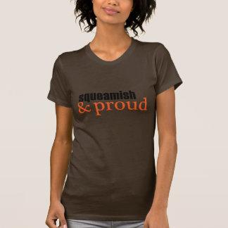 Squeamish & Proud (serif-black/orange) Tees