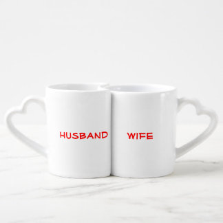 """Squee"" Husband & Wife Couples Mug set"