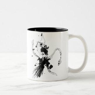Squid Attack Two-Tone Coffee Mug