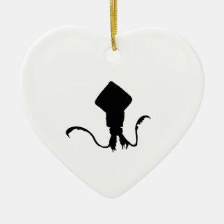 Squid Ceramic Heart Decoration