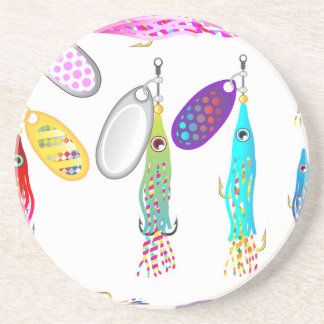 Squid Fishing lure Spinners Vectors Trolling lure Coaster