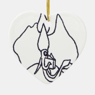 Squid Ink Australia Logo Ceramic Heart Decoration