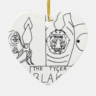 Squid Ink - The Tyger Ceramic Heart Decoration