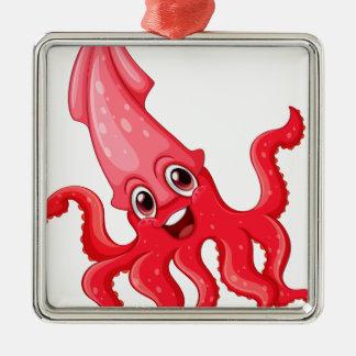 Squid Metal Ornament