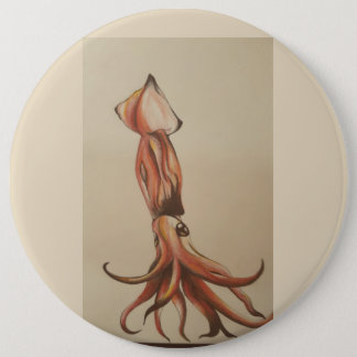 Squid out of Water 6 Cm Round Badge