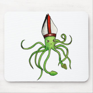 Squid Pope - mousepad