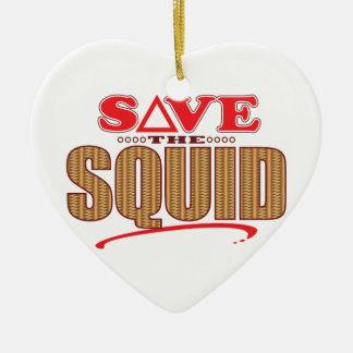 Squid Save Ceramic Heart Decoration