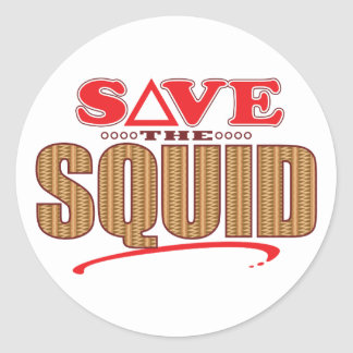 Squid Save Classic Round Sticker
