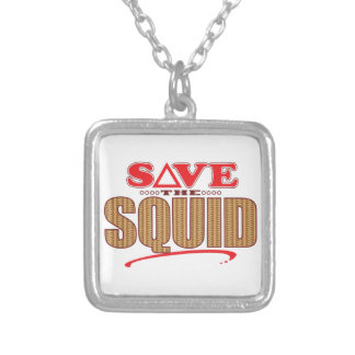 Squid Save Silver Plated Necklace