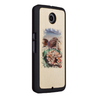 Squid to Gallego/Dust to feira/Galician octopus Wood Phone Case