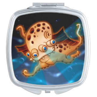 SQUIDDY ALIEN MONSTER CARTOON compactmirror SQUARE Travel Mirror