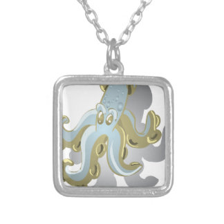 Squidy Silver Plated Necklace