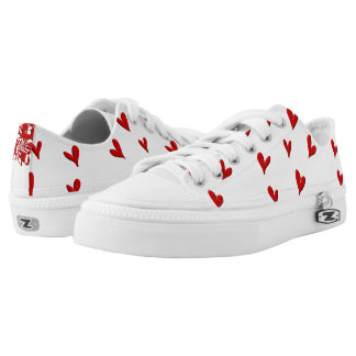 Squiggle and Hearts Low Tops