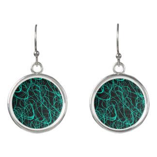 Squiggley Designer Earrings by Julie Evehart