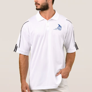 Squiggly Lines _Go with the flow_Squiggle only Polo Shirts