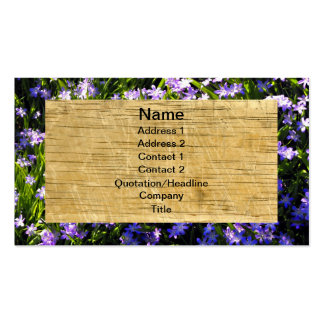 Squill Flowers and Wood Pack Of Standard Business Cards