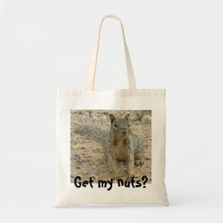 squirel, Get my nuts? Tote Bag