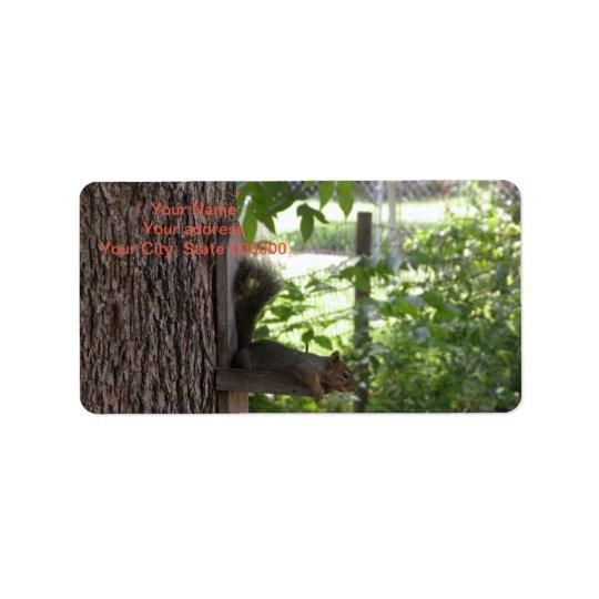 Squirrel Address Labels
