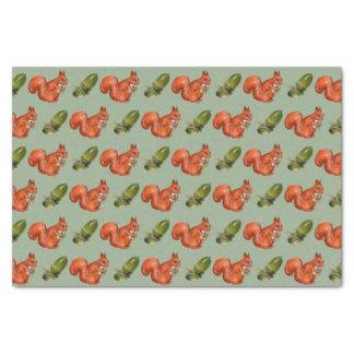 Squirrel and Acorn Tissue Paper