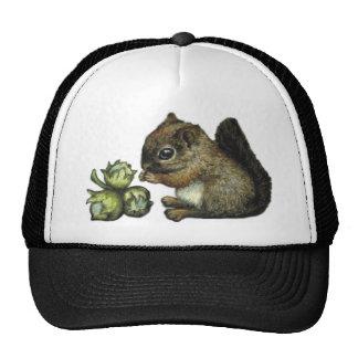 Squirrel and hazelnuts mesh hat