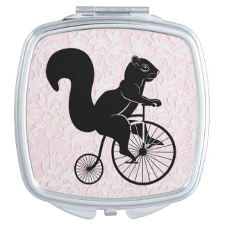 Squirrel and Pink Lace Mirrors For Makeup
