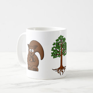 squirrel and tree mug