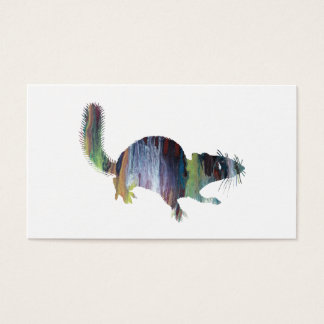 Squirrel art business card