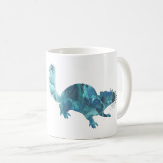Squirrel art coffee mug