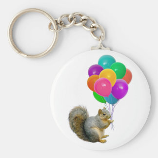 Squirrel Balloons Key Ring