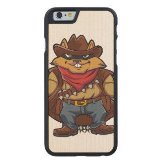Squirrel Bandit Carved® Maple iPhone 6 Slim Case