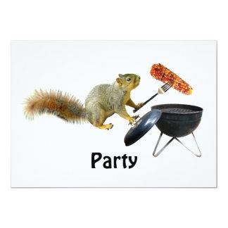 Squirrel BBQ Invitation