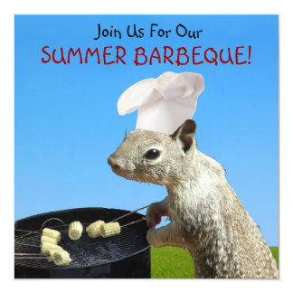 Squirrel BBQ Invitations