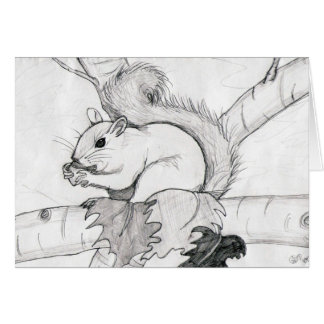 squirrel by shokara card
