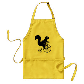 Squirrel Chipmunk Riding a Bike Standard Apron