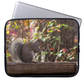 Squirrel Chow Time Laptop Sleeve