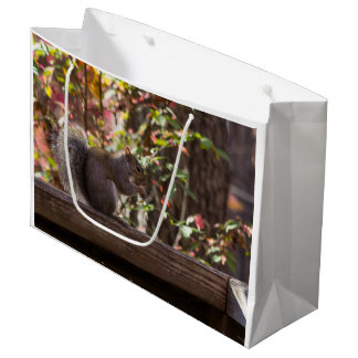 Squirrel Chow Time Large Gift Bag