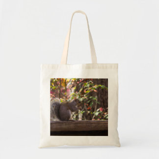 Squirrel Chow Time Tote Bag